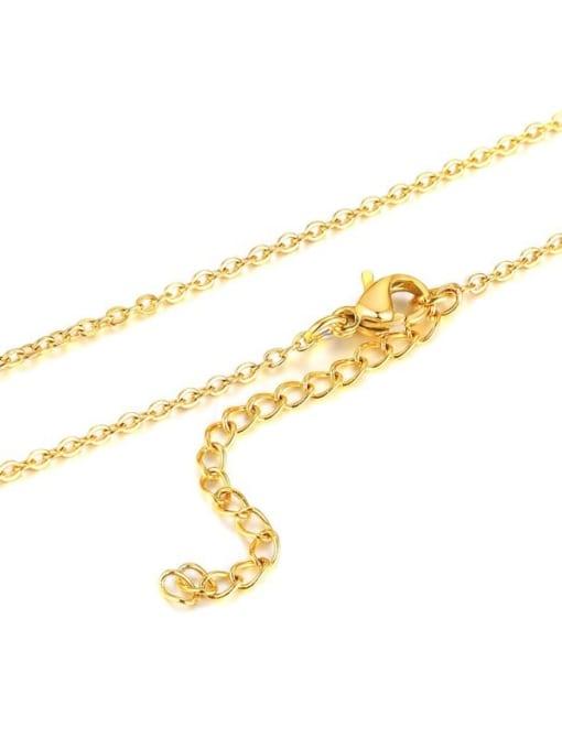 Gold chain 40+ 5cm Titanium Steel  26 Letter Minimalist  Pendant Necklace