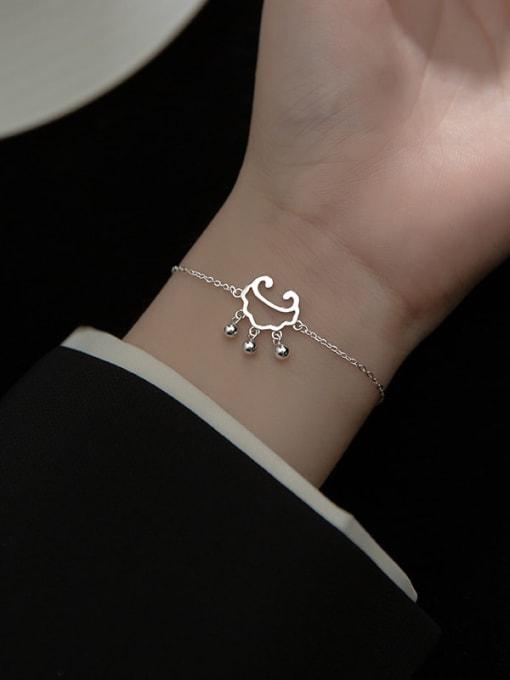 Rosh 925 Sterling Silver Locket Minimalist Link Bracelet 1