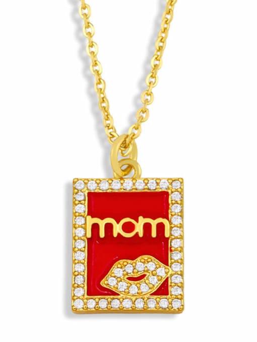 CC Brass Enamel Heart Vintage Necklace 1