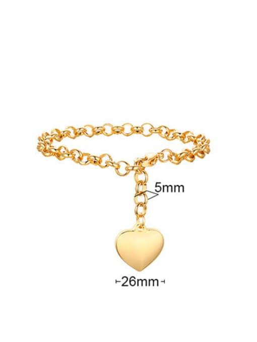 CONG Titanium Steel Heart Vintage Link Bracelet 3