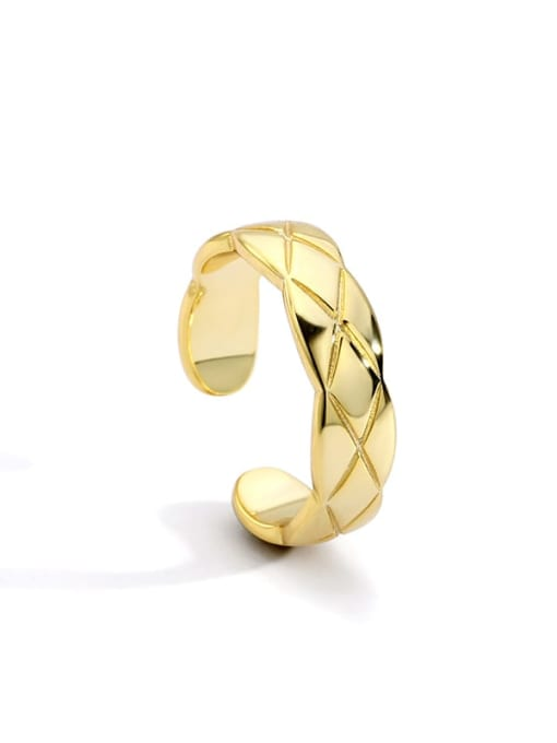 Gold Brass Geometric Vintage Band Ring