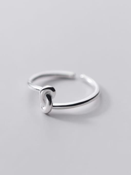 Rosh 925 Sterling Silver Irregular Minimalist Band Ring 3