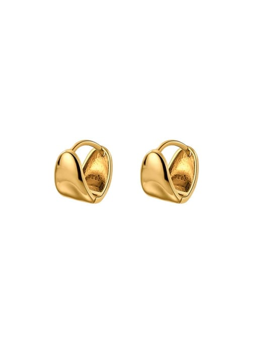 Rosh 925 Sterling Silver Geometric Minimalist Huggie Earring 4