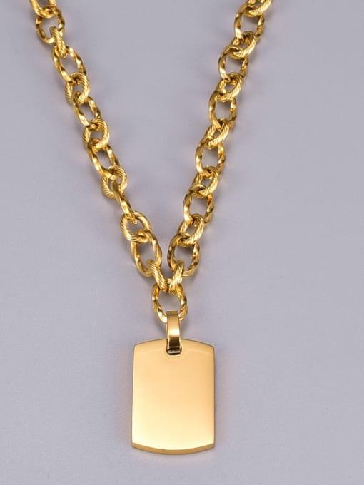 A TEEM Titanium Steel Geometric Vintage Necklace 3