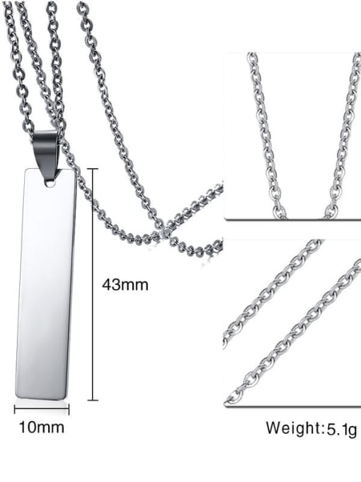 CONG Stainless steel Smooth Geometric Minimalist Necklace 2