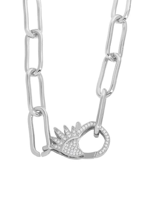 CC Brass Cubic Zirconia Geometric Vintage Necklace 1