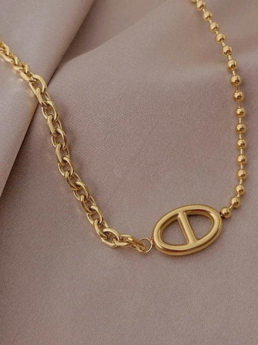 A TEEM Titanium Steel  Hollow Geometric Vintage Pendant Necklace 0