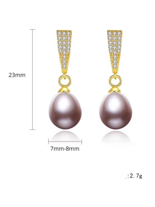 CCUI Brass Cubic Zirconia Water Drop Vintage Drop Earring 4