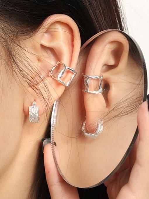 DAKA 925 Sterling Silver Hollow Geometric Minimalist Single Earring 1