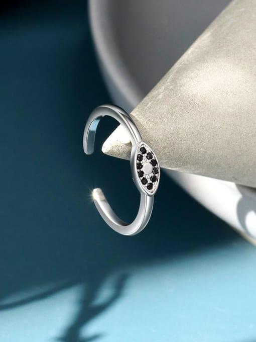 CHARME Brass Cubic Zirconia Evil Eye Vintage Band Ring 1