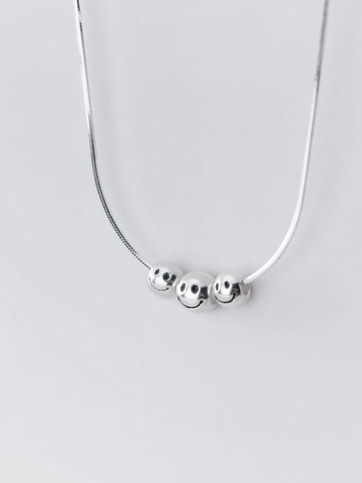 Rosh 925 Sterling Silver Face Minimalist Necklace 1