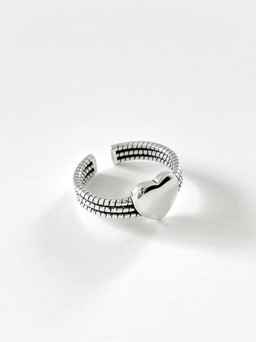Love ring j1568 3G 925 Sterling Silver Heart Vintage Band Ring