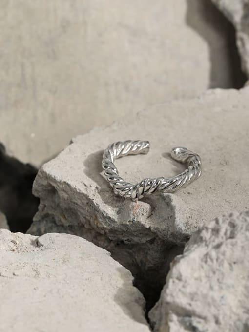 DAKA 925 Sterling Silver Round Vintage Band Ring 1