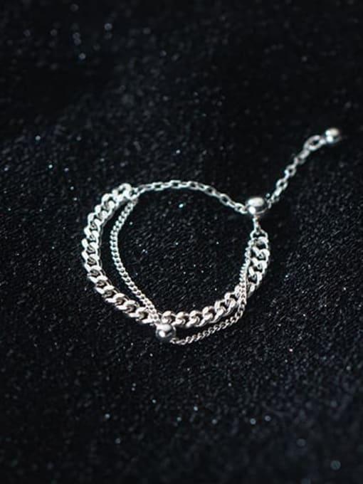 Rosh 925 Sterling Silver Irregular Minimalist Stackable Ring 0