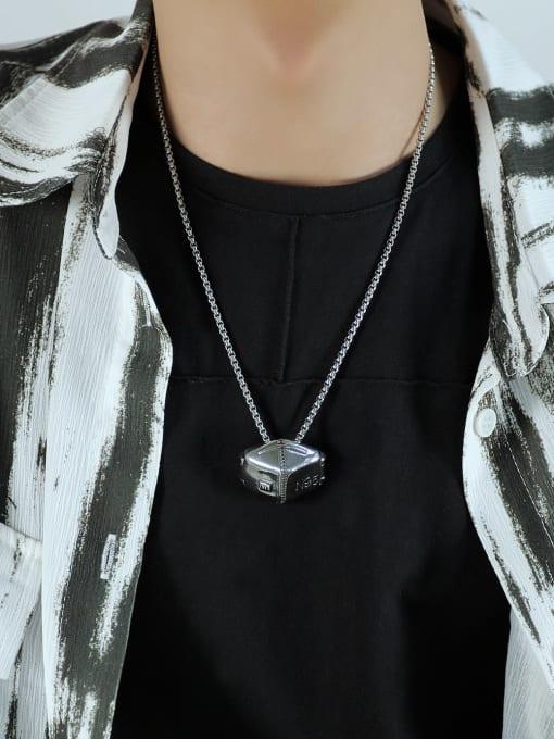 Open Sky Titanium Steel Geometric Hip Hop Necklace 1