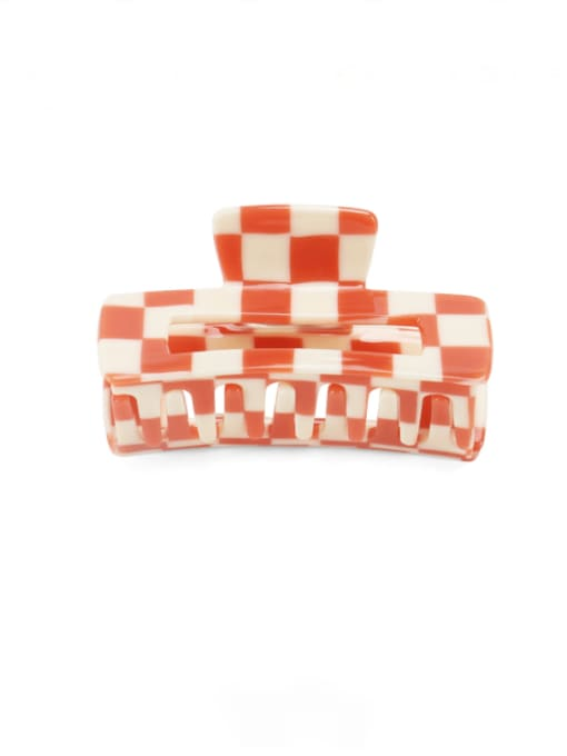 Lattice orange Cellulose Acetate Minimalist Geometric Zinc Alloy Jaw Hair Claw