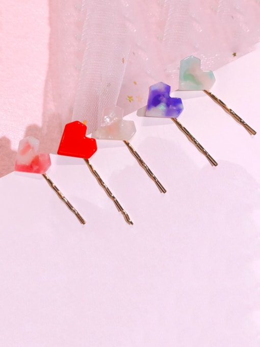 Chimera Alloy Cellulose Acetate Minimalist Heart  Hair Pin