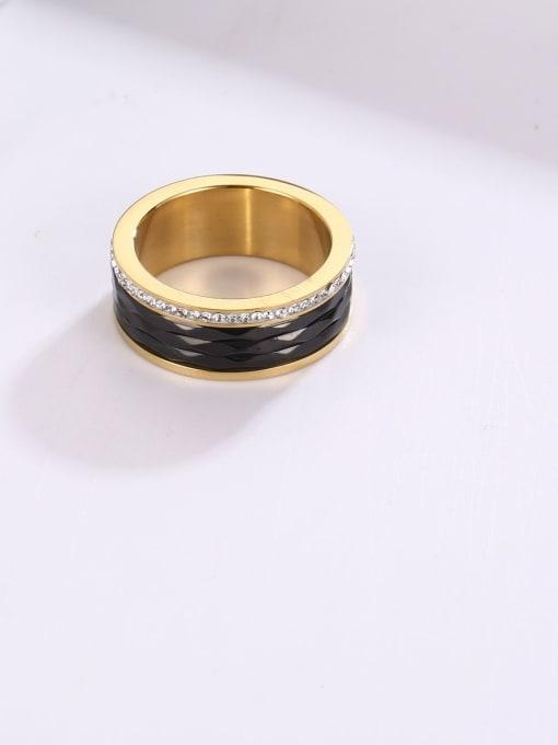 MIYA Titanium Steel Enamel Round Minimalist Band Ring 2