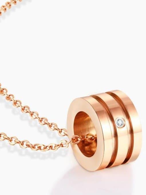 A TEEM Titanium Rhinestone Heart Minimalist Pendant Necklace 3