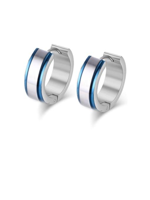CONG Stainless steel Geometric Minimalist Huggie Earring 0