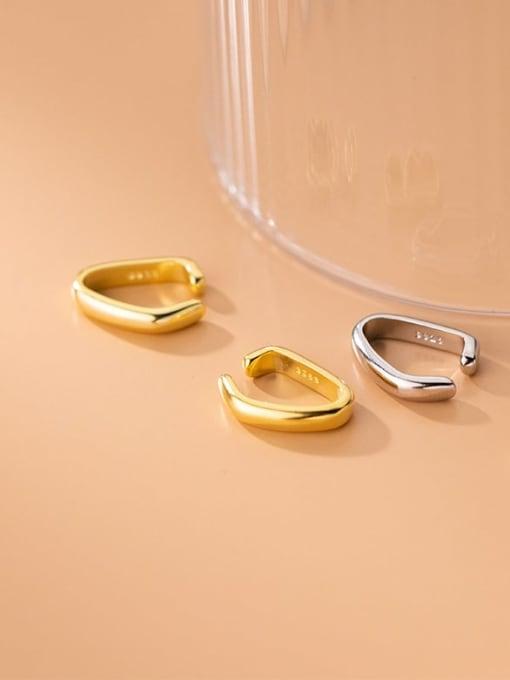 Rosh 925 Sterling Silver Geometric Minimalist Clip Earring