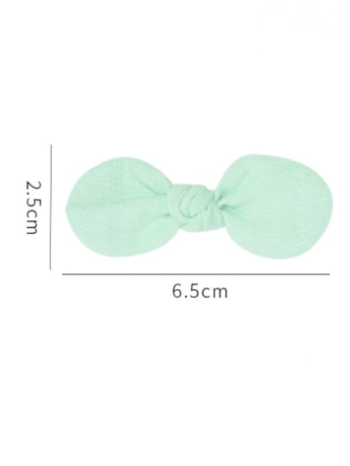 YOKI KIDS Alloy Fabric Minimalist Bowknot  Multi Color Hair Barrette 4