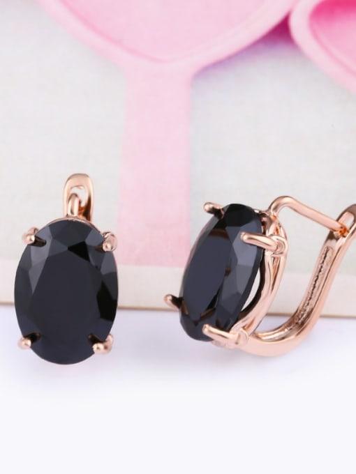CC Alloy Glass Stone Rosary Bohemia Stud Earring 2