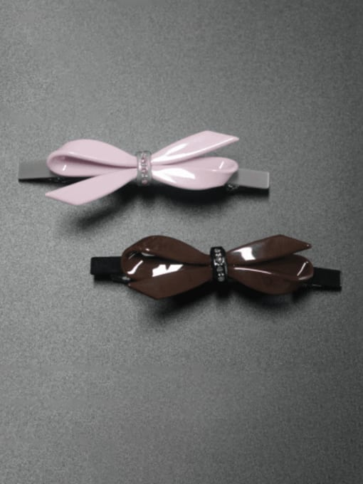 HUIYI Cellulose Acetate Minimalist Bowknot Zinc Alloy Spring clip Hair Barrette 0