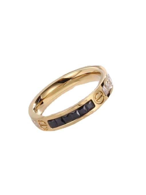 MIYA Titanium Steel Enamel Round Minimalist Band Ring 3