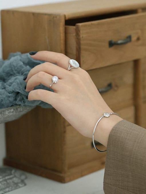 DAKA 925 Sterling Silver Geometric Minimalist Adjustable Bracelet 1