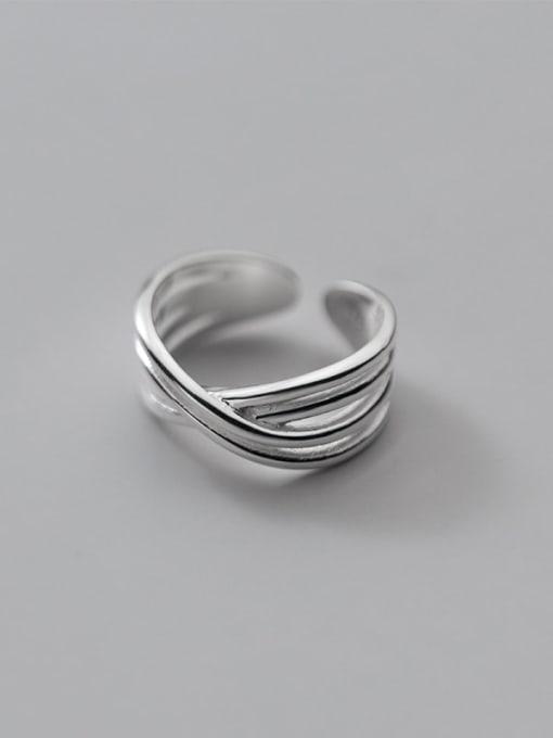 Rosh 925 Sterling Silver Cross Vintage Band Ring 2