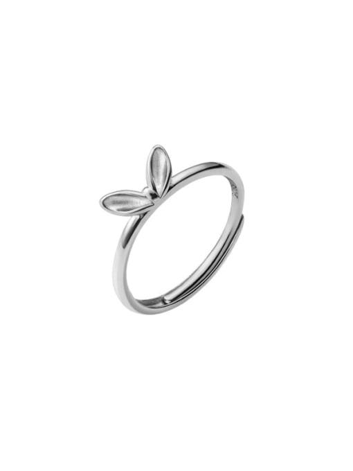 Rosh 925 Sterling Silver Leaf Cute Band Ring 3