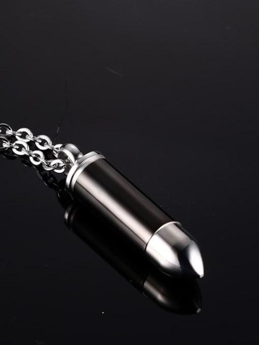 CONG Titanium Steel Enamel Irregular Minimalist Necklace 1