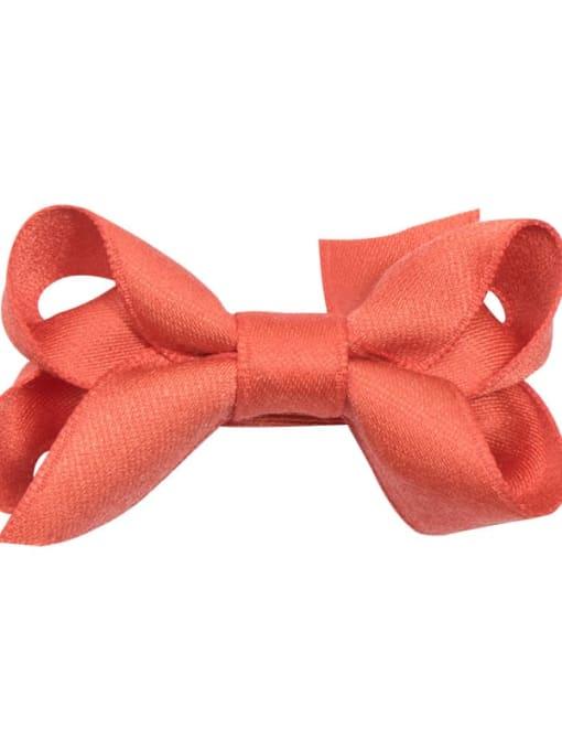 2 Orange Grapefruit Alloy Fabric Cute Bowknot  Multi Color Hair Barrette