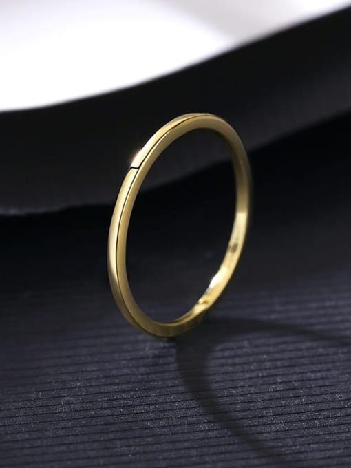 14K 13B12 Brass Geometric Minimalist Band Ring