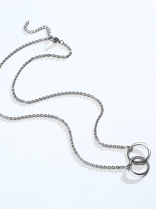 CONG Titanium Steel Geometric Minimalist Necklace 0