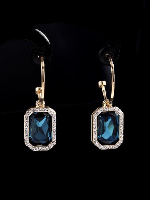 Luxu Brass Cubic Zirconia Geometric Trend Hook Earring 1