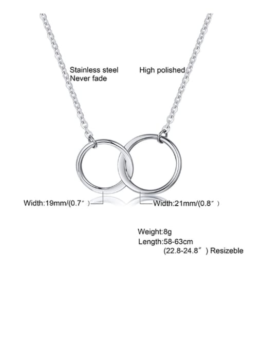 CONG Titanium Steel Geometric Minimalist Necklace 1
