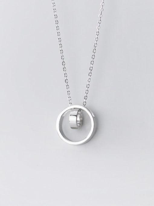 Rosh 925 Sterling Silver Rhinestone Geometric Minimalist Pendant Necklace 2