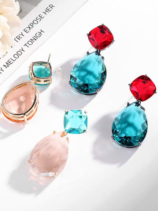 Luxu Brass Cubic Zirconia Water Drop Trend Drop Earring 1