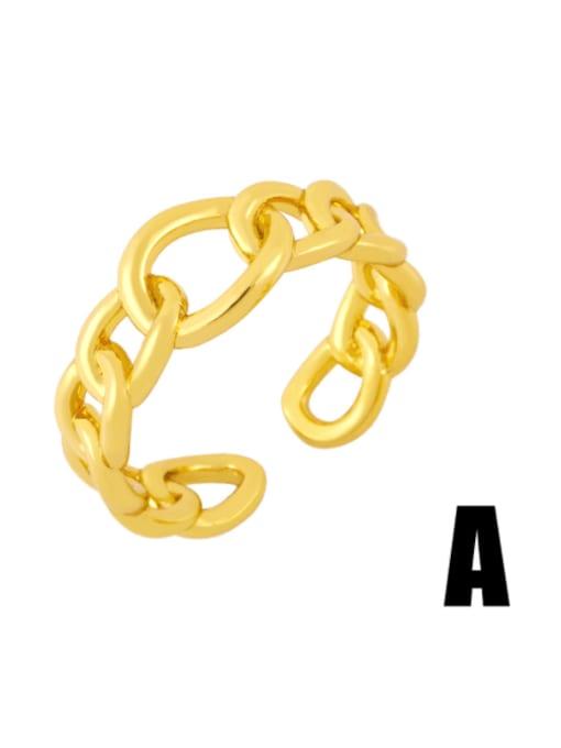CC Brass Bead Geometric Minimalist Band Ring 2