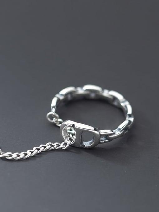 Rosh 925 Sterling Silver Geometric Minimalist Band Ring 1