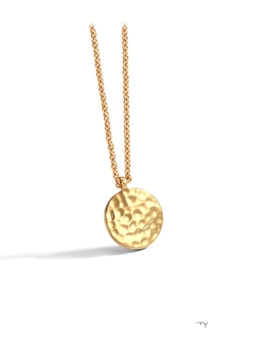 CHARME Brass Geometric Minimalist  Pendant Necklace 0