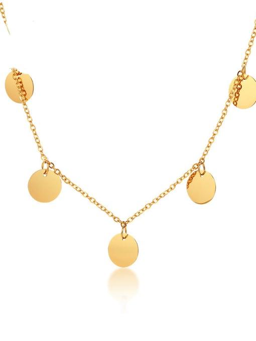 CONG Titanium Steel Geometric Minimalist Necklace