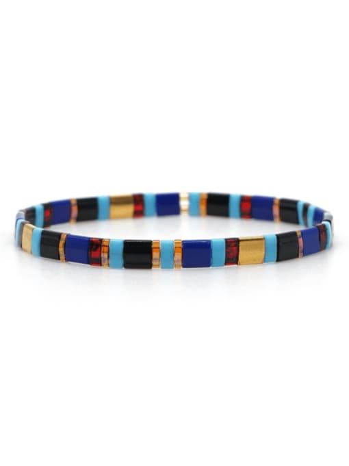 TL B190262G Stainless steel TILA Bead Multi Color Geometric Bohemia Handmade Weave Bracelet