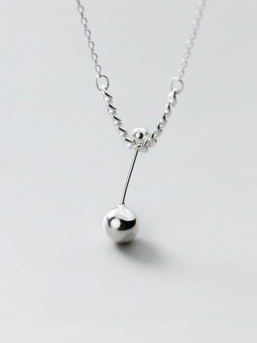 Rosh 925 Sterling Silver Ball Minimalist Necklace