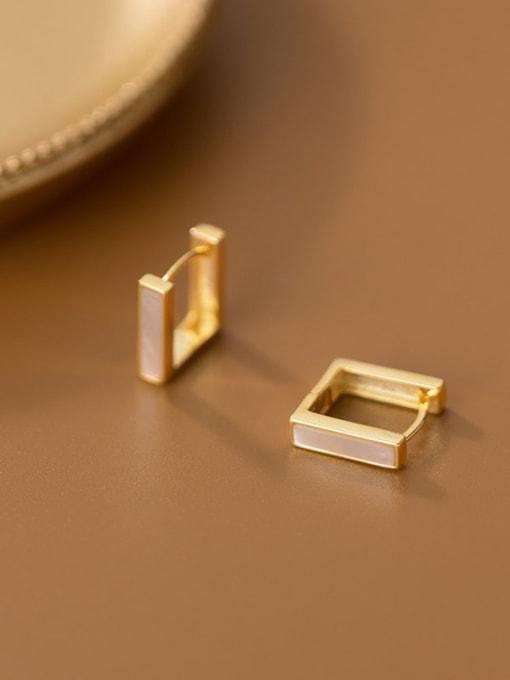 Rosh 925 Sterling Silver Shell Geometric Minimalist Stud Earring 4