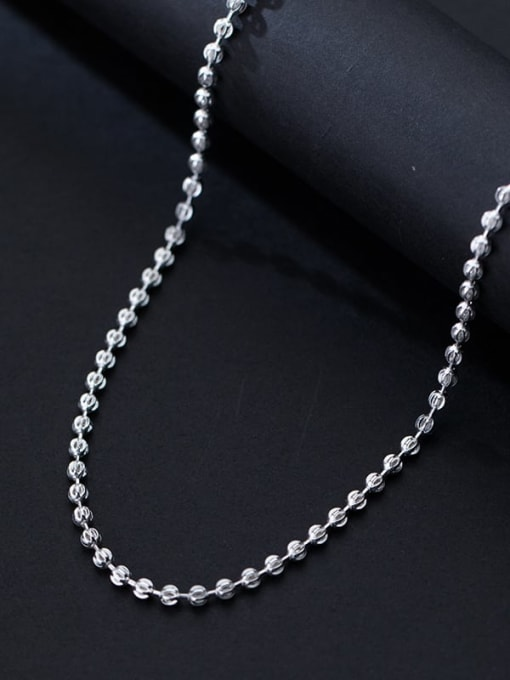 Rosh 925 Sterling Silver Round Minimalist Beaded Necklace