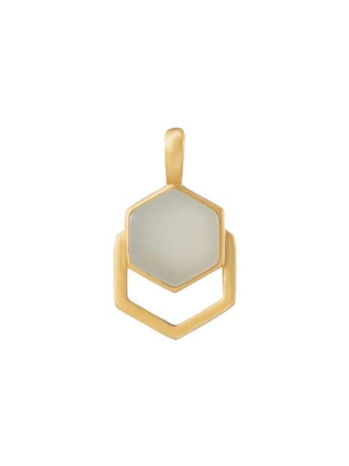 DEER 925 Sterling Silver Jade Minimalist Geometric Pendant