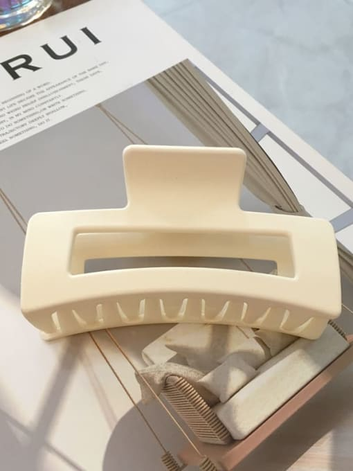 Frosted Beige Cellulose Acetate Minimalist Geometric Jaw Hair Claw
